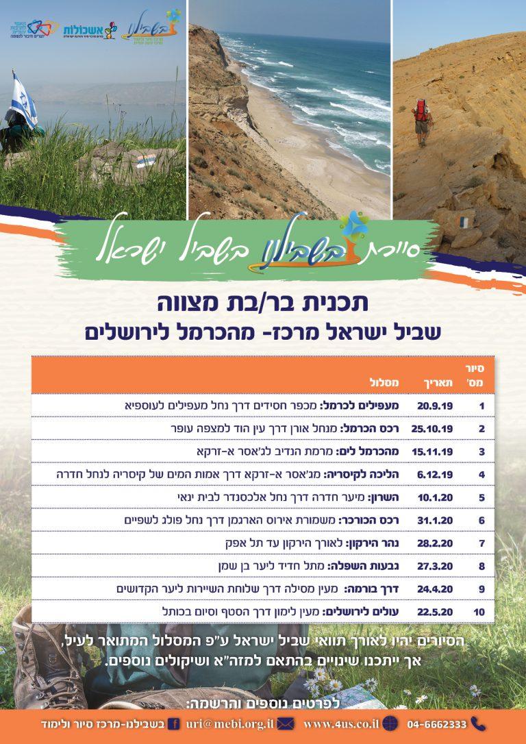 לוז שביל ישראל2019 עדכני מרכז - עותק